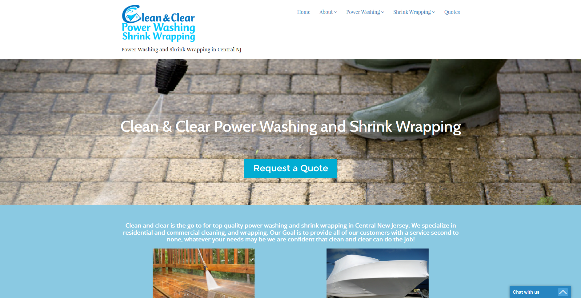 Clean & Clear Power Washing and Shrink Wrapping
