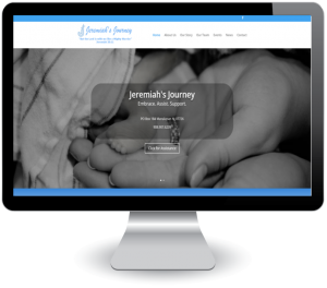 Jeremiah's Journey - new website design by DigitalEffex Web Hosting & Design
